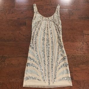 Adrianna papell evening mini sequined dress